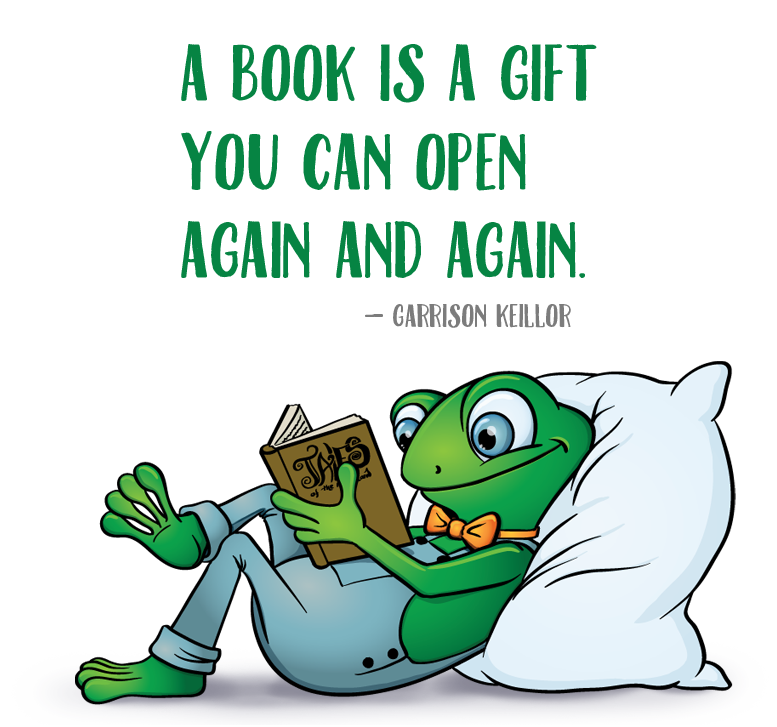 A books is a gift you can open again and again